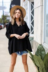 Black - Linen Tunic from Dress Up