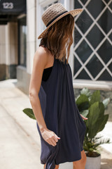 Midi Dress in Charcoal Side View