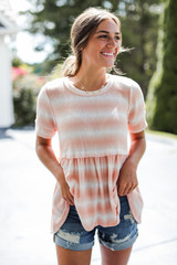 Model wearing a Sunkissed Washed Top