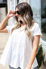 White - Tiered Babydoll Tee
