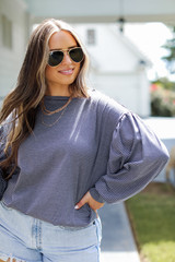 Navy - Striped Pullover from Dress Up