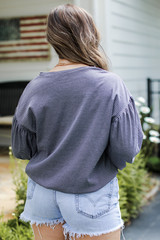 Striped Pullover Back View