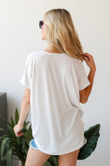 Surplice Tee in White Back View