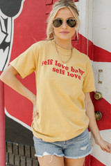 Mustard - Self Love Graphic Tee from Dress Up
