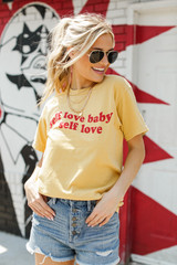 Model wearing the Self Love Graphic Tee