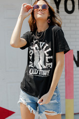 Black - Dress Up model wearing the Old Town Nashville Graphic Tee