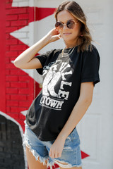Model wearing the Old Town Nashville Graphic Tee