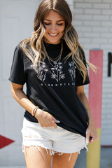 Black - Greenville Floral Graphic Tee from Dress Up