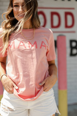 Peach Mama Graphic Tee Front View