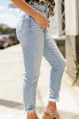 Kancan High Waist Distressed Skinny Jeans Side View