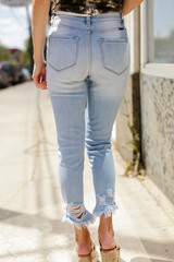 Kancan High Waist Distressed Skinny Jeans Back View