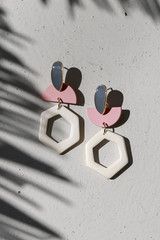 Blush - Statement Drop Earrings from Dress Up