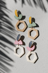 Flat Lay of both colors of Statement Drop Earrings