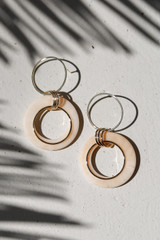 Natural - Acrylic Drop Earrings from Dress Up