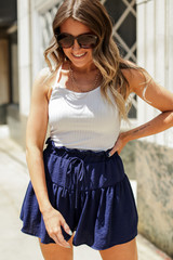 Navy - Tiered Shorts