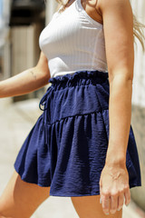 Navy - Tiered Shorts from Dress Up