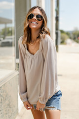 Model wearing a Square Neck Blouse