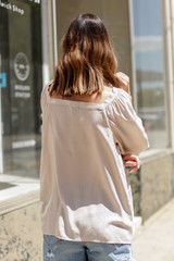 Square Neck Blouse Back View