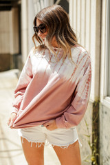 Mauve - Tie-Dye Pullover from Dress Up