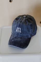 ATL Baseball Hat in Navy Front View