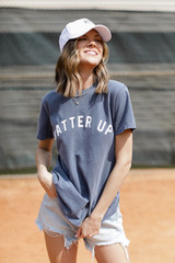 Navy - Batter Up Graphic Tee