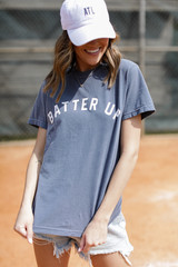 Dress Up model wearing the Batter Up Graphic Tee