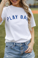 White - Play Ball Graphic Tee from Dress Up