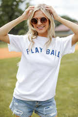 Play Ball Graphic Tee Front View