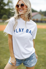Dress Up model wearing the Play Ball Graphic Tee