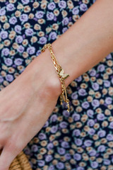 Gold - Butterfly Layered Bracelet