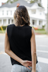 Muscle Tank in Black Back View