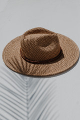 Straw Fedora Hat from Dress Up