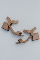 Tan - Ankle Strap Heels from Dress Up