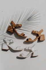 Flat Lay of both colors of Ankle Strap Heels