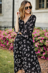 Floral Midi Dress Front View