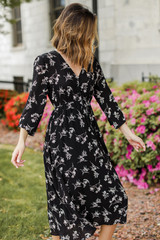 Floral Midi Dress Side View