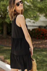 Ruched Tiered Dress Side View