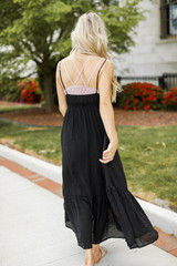 Maxi Dress in Black Back View