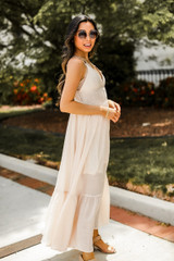 Maxi Dress in Blush Side View
