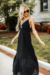 Maxi Dress in Black Side View