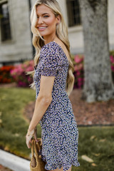 Navy - Floral Dress from Dress Up
