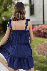Tie-Strap Tiered Dress Back View