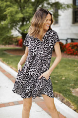 Leopard - T-Shirt Dress