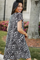 Leopard T-Shirt Dress Back View