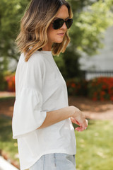 Puff Sleeve Top Side View