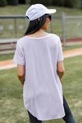 Everyday Tee in Lavender Back View