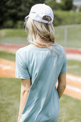Everyday Tee in Sage Back View