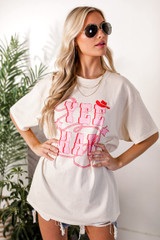 Model wearing the Yeehaw Graphic Tee from Dress Up