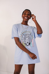Dress Up model wearing the Tiger Love Graphic Tee
