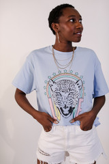 Model wearing the Tiger Love Graphic Tee